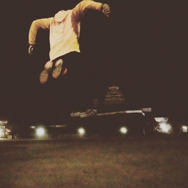 呼吸を整えてジャンプ