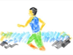 マラソンイラスト