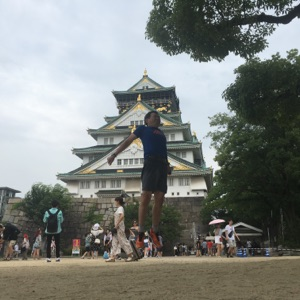 大阪城走り終えた