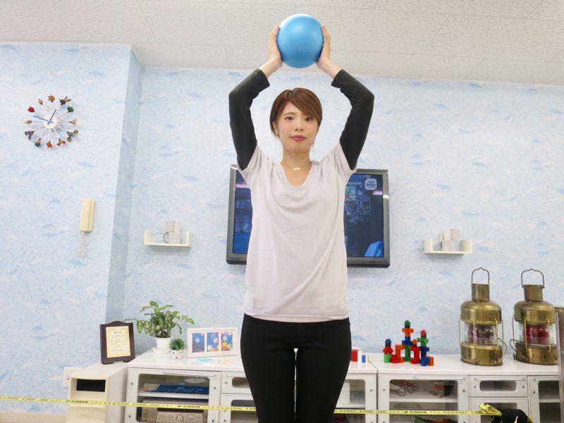 ミニボールを用いたダイエットトレーニング〜お腹を引き締める〜
