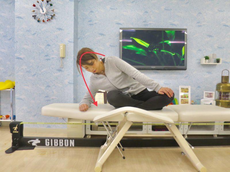 左股関節を伸ばす