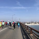 岡山マラソン橋の上